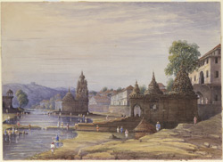 Ghats and temples, probably at Nasik 1448